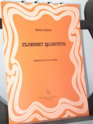 Gallai A - Clarinet Quartets